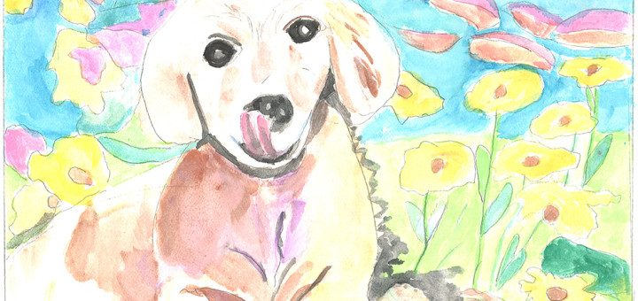 Happy Dog by Evelyn