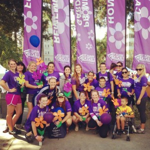 Carly and her team at Walk to End Alzheimers, Sacramento