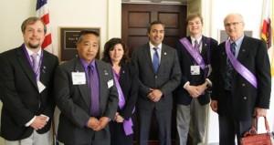 Eric, Patricio, Linda, Congressman Ami Bera, Zack y Paul