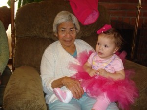 My grandmother with my daughter