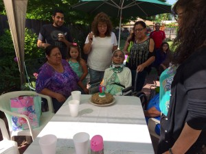 Our family on Maria's 87th birthday