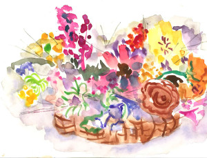 Basket of Flowers by Lily H.