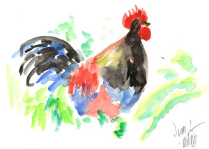 Small Rooster by Jean A.