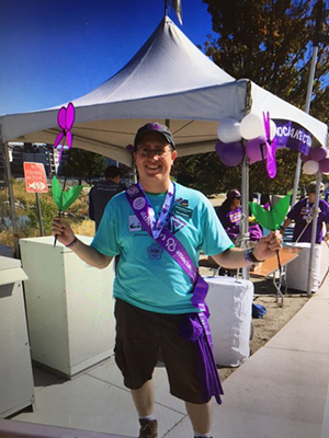 William Palmer volunteering at the Walk to End Alzheimer's