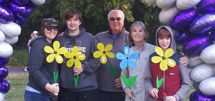 Laura McDermott and her family at Walk to End Alzheimer's