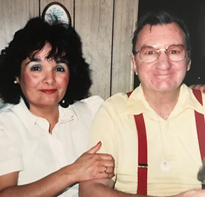 Brenda's mom takes care of husband John who was living with Alzheimer's