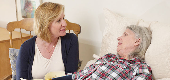 Mother with Alzheimer's on Hospice with daughter