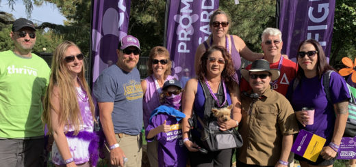 Margo and family at the Modesto Walk to End Alzheimer's