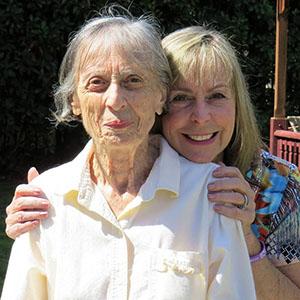 Nancy hugs her mom Helen who is living with Alzheimer's