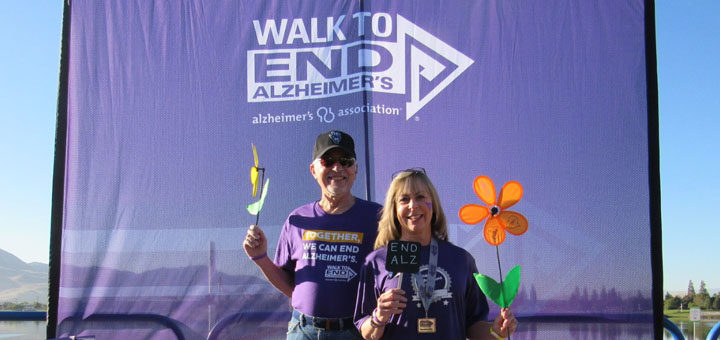 Nancy and Lance pose at Reno Sparks Walk to End Alzheimer's
