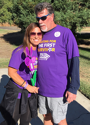 Blair and his daughter at the Walk to End Alzheimer's