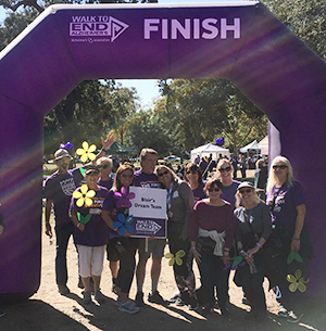Sheri and Blair with their Walk to End Alzheimer's team