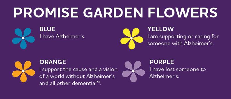 Description of Walk to End Alzheimer's promise flower meanings