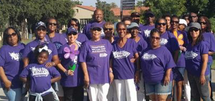 Dean Woods and her Walk to End Alzheimer's team