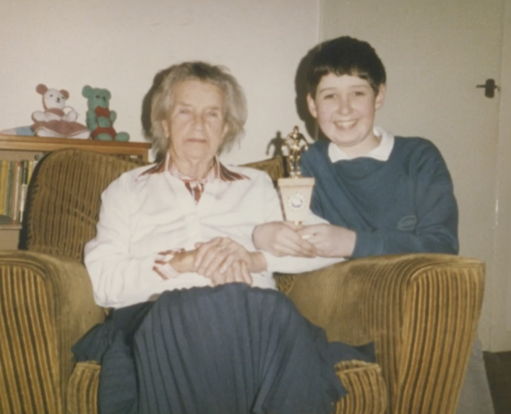 Ian and his Gran who had Alzheimer's