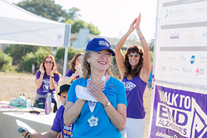 Francie at the 2019 Walk to End Alzheimer's in Aptos