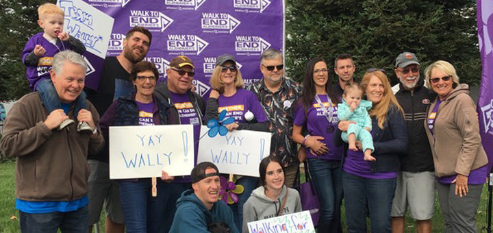 Pat and Wally's walk to end Alzheimer's team