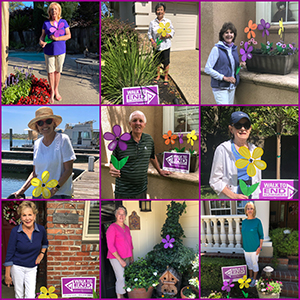 Brookside Walkers hold promise garden flowers for Walk to End Alzheimer's