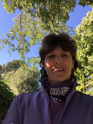 Annette Stephens, Team Captain of the Brookside Walkers and Friends Walk to End Alzheimer's team