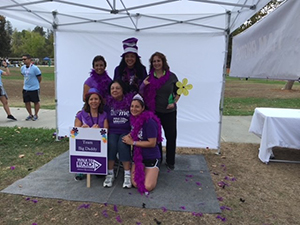 JoAnn and friends pose at Walk to End Alzheimer's