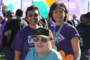 JoAnn, Stephanie and Butch at Walk to End Alzheimer's