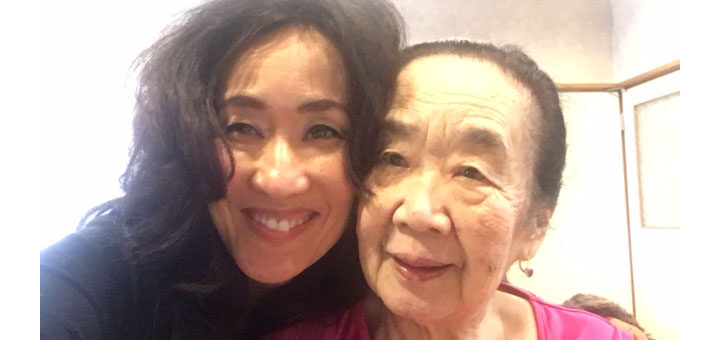 Masako and her mother who lives with Alzheimer's