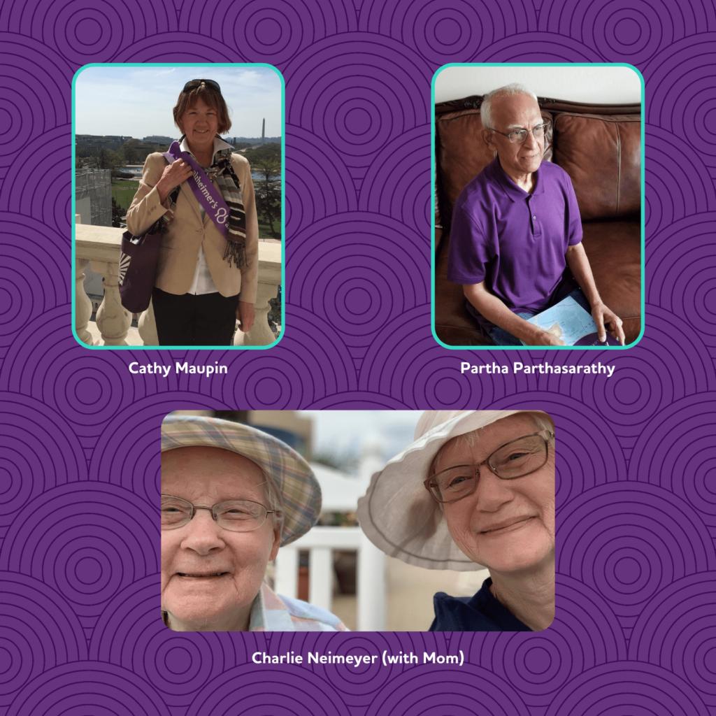 Facilitator photos - Cathy, Partha & Charlie
