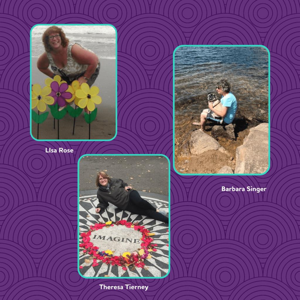 Facilitator photos: Lisa, Barbara and Theresa