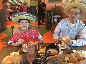 Last birthday celebration for Maria's mother who was living with Alzheimer's