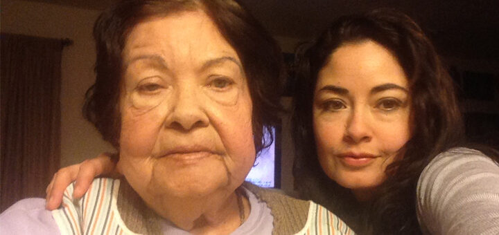 Maria and her mother who is currently living with Alzheimer's
