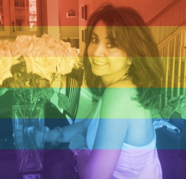 Pina with a rainbow filter shows her support for the LGBTQ community