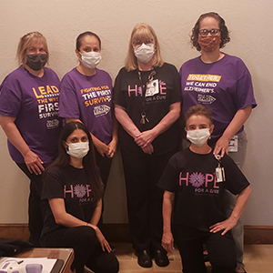 Carol and her coworkers are ready for the Walk to End Alzheimer's
