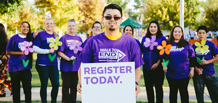 Quincy and other Walkers at the Walk to End Alzheimer's