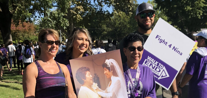Sylvia and her team 4Nina at the Modesto walk to End Alzheimer's