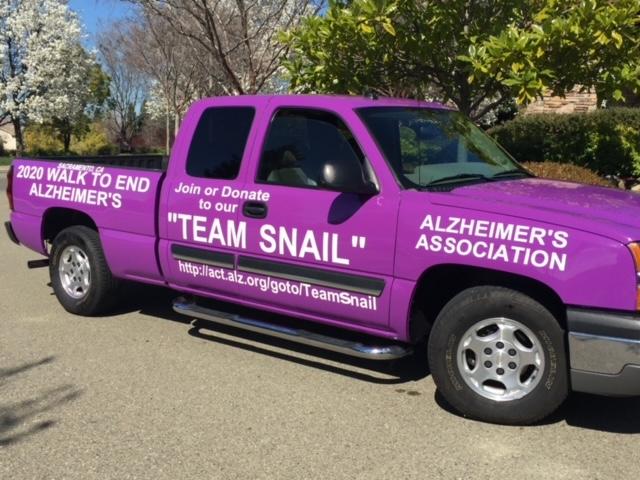 Tom's purple truck