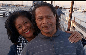 Michi and Tyrone who is living with Alzheimer's