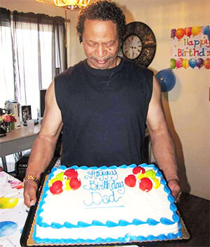 Tyrone, who is living with Alzheimer's, celebrates his birthday