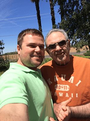 Marc and Ron who is living with Alzheimer's
