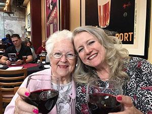 Karen DeHart celebrates with mother who had Alzheimer's